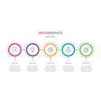 infographic label 5 options or steps vector image vector image