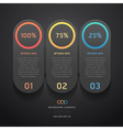 Infographics elements numbers template vector | Price: 1 Credit (USD $1)