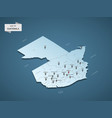 isometric 3d guatemala map concept vector image vector image