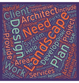 Landscape architects text background wordcloud vector image vector image