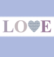 love in heart lavender vector image