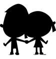 lovers silhouette hold hand vector image