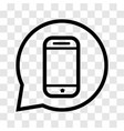 mobile in speech bubble icon - iconic design vector image
