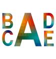 mosaic alphabet letters a b c d e