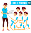 office worker woman happy clerk servant vector image