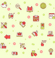online shopping icons set on white background vector image vector image