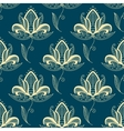 Oriental paisley beige flowers seamless pattern vector image vector image
