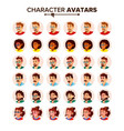 people avatar set man woman circle vector image vector image