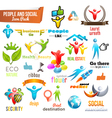 People Social Community 3d icon and Symbol Pack vector image vector image