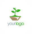plant seed organic logo vector image