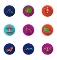 Play garden set icons in flat style Big vector image vector image