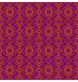 Purple background with seamless floral pattern vector image