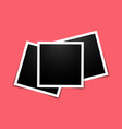 realistic photo frame in mockup style set of vector image vector image