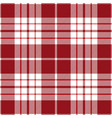 red and white tartan plaid seamless pattern vector image vector image