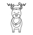 reindeer wearing hat celebration merry christmas vector image vector image