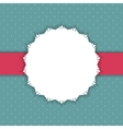 Retro Frame on Cute Background vector image