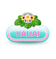 rounded and glossy hawaiian button vector image vector image