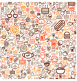 seamless food background vector image