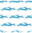 seamless pattern white capped waves vector image
