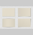 set curved photo frames vector image vector image