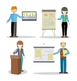 Set of Business Coaches Characters in Flat Design vector image vector image