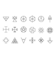 Set of geometric hipster shapes11 vector image vector image