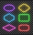 set of realistic glowing neon frames vector image vector image
