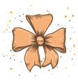set of vintage hand drawn ribbon bows vector image vector image