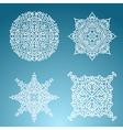 Snowflakes winter set vector image
