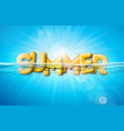 summer with 3d typography vector image vector image
