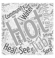 The Medical Community And Hot Tubs Word Cloud vector image vector image