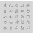 Thin line yoga icons health life icon set vector image vector image