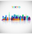 tokyo skyline silhouette in colorful geometric vector image vector image