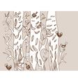 tree and bird vector image