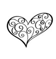 vintage heart for valentines and wedding day vector image