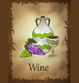 wine in cartoon style vector image vector image