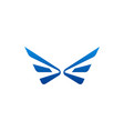 wing fly logo vector image vector image