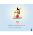 woman in the yoga pose fitness icon vector image