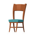 wooden chair furniture cartoon element for room vector image vector image