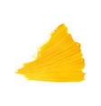 yellow triangle brush strokes vector image vector image
