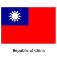 Flag the country republic of china vector image