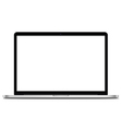 Laptops mock up with blank screen vector image