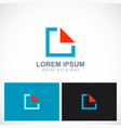 square triangle geometry logo vector image
