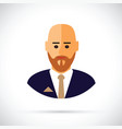 a cartoon of businessman profile vector image