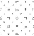 agriculture icons pattern seamless white vector image vector image