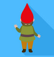 back of gnome icon flat style vector image vector image