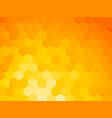 background with yellow hexagon vector image vector image