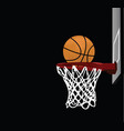 basketball with a hoop vector image vector image
