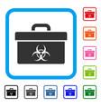 biohazard toolbox framed icon vector image vector image