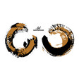 black and color ink round stroke on white vector image